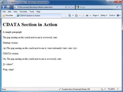 cdata section xml でデータを処理する