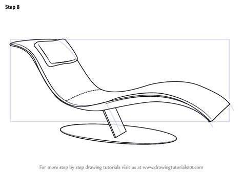 how to draw a recliner chair step by step learn how to draw a lounge chair furniture step by step