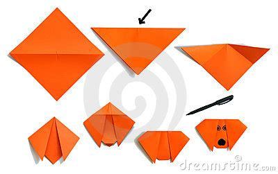 Procedure Of Origami - origami puppy stock image image 5589551