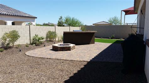 arizona desert landscape design with riverbeds rock plants
