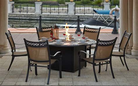 Patio Furniture Mountain View by Patio Furniture Dining Set Cast Aluminum 60 Quot Propane