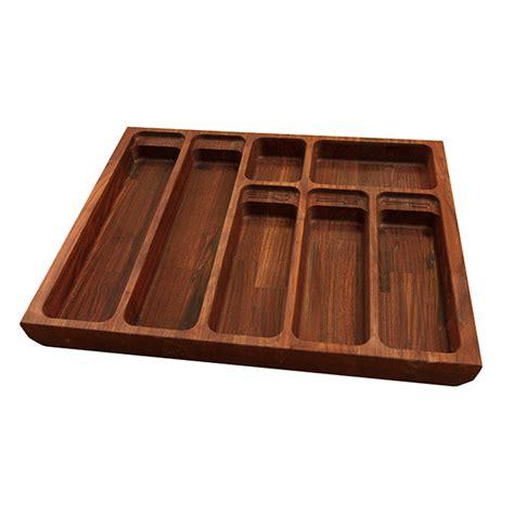 solid black american walnut cutlery drawer inserts