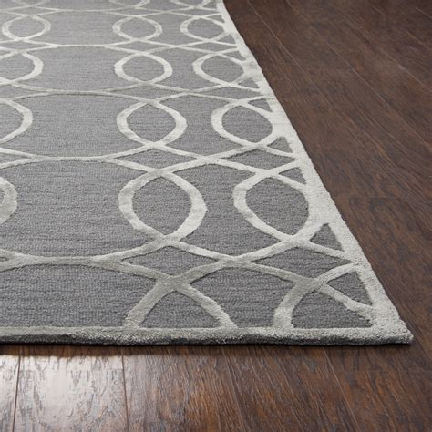 circular trellis wool area rug circular trellis wool area rug in slate silver 5 x 8