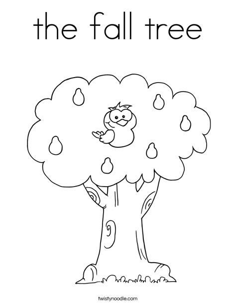 coloring pages fall tree the fall tree coloring page twisty noodle