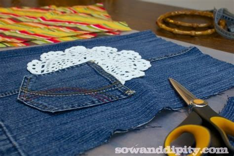 pattern pieces for jeans 5 recycled blue jean projects