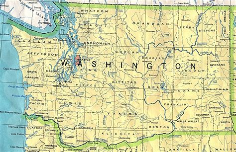 detailed map  washington state washington state