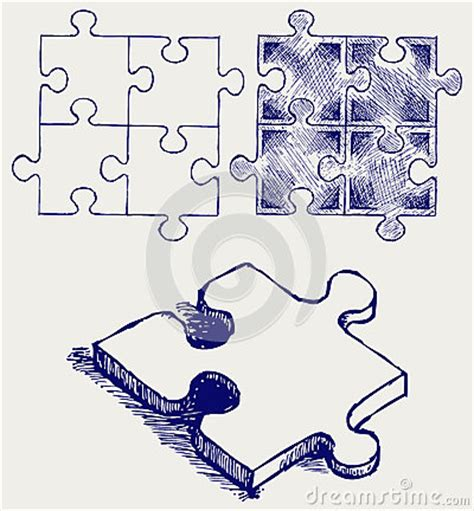 Sketches Crossword by Puzzle Sketch Stock Image Image 26975261