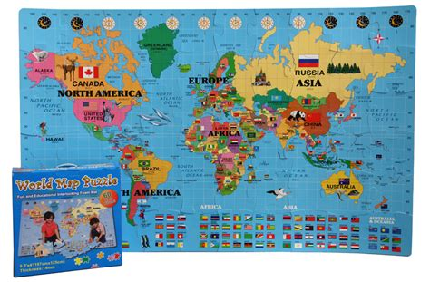 Cobyhaus Playmat Premium Zoo We foam world map kit korean discount interlocking puzzle mat