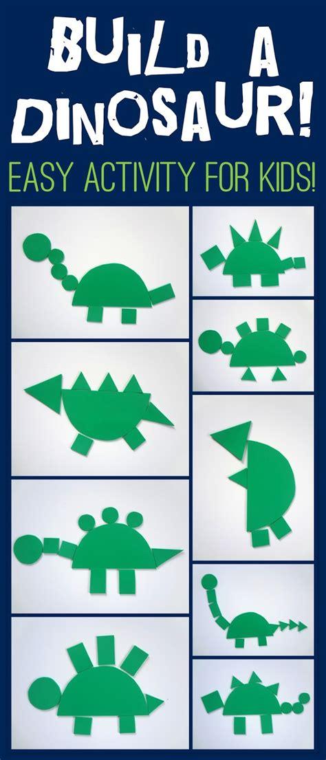 little family fun shape house educational craft little family fun build a dinosaur