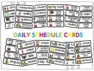 free printable daily visual schedule mrs p s kindergarten daily schedule cards