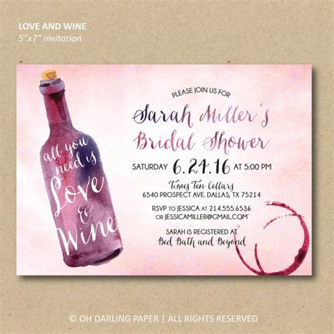 bridal shower invitations wine themed 25 best ideas about bridal shower wine on l shower gifts wine themed