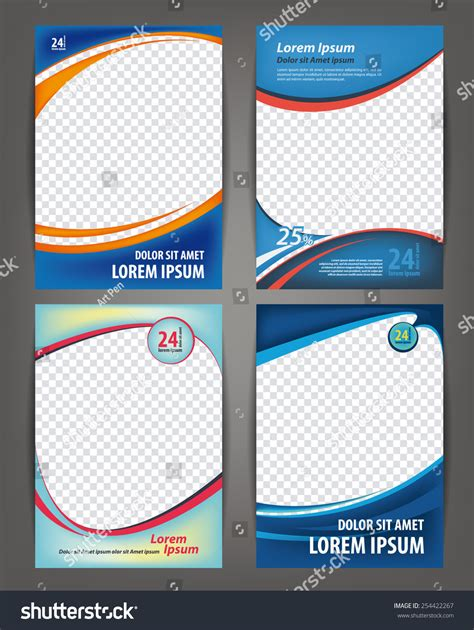 id layout design template magazine flayer brochure cover layout design stock vector