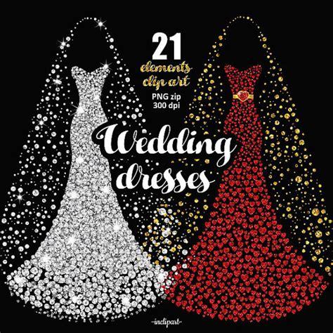 Dress Bordir Glitter wedding dress clipart bridal gown clipart prom dress clip
