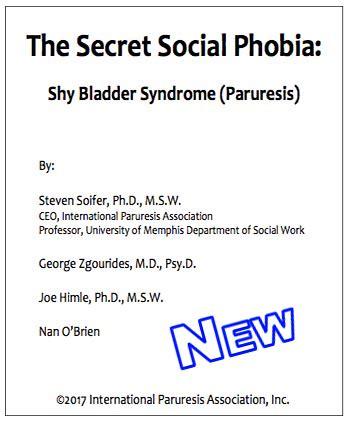 The Secret Social Phobia Shy Bladder Syndrome Paruresis