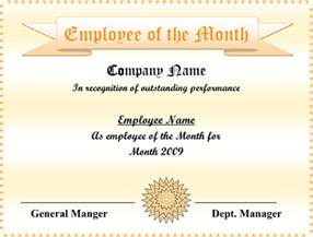 employee of the month powerpoint template 5 employee of the month certificate templates word pdf