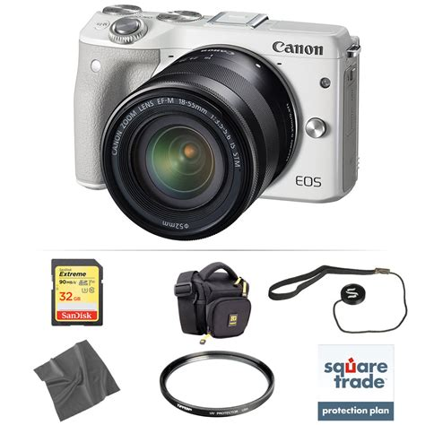 Canon Eos M3 Mirrorless canon eos m3 mirrorless digital with 18 55mm lens deluxe