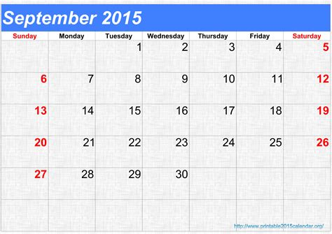 printable weekly calendar sept 2015 8 best images of september october november december 2015