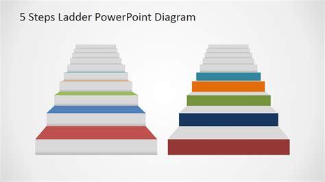 powerpoint tutorial step by step pdf 5 steps ladder powerpoint diagram slidemodel