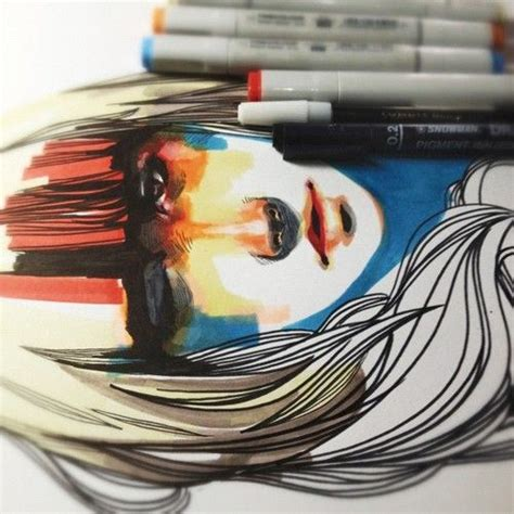 Drawing Markers by Works Of Created Using Marker Pens Bored