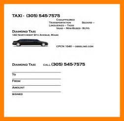 6  taxi bill format in word   handy man resume