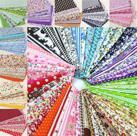 Patchwork Fabric Packs - 60pieces random color 20cm 25cm remnant cloth fabric