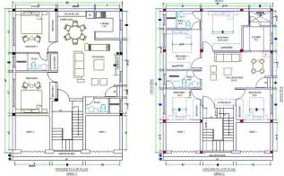 house design autocad quick 2 4 bedroom house designed in autocad