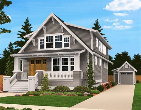 bungalow home designs plan 85058ms handsome bungalow house plan bungalow lofts and country