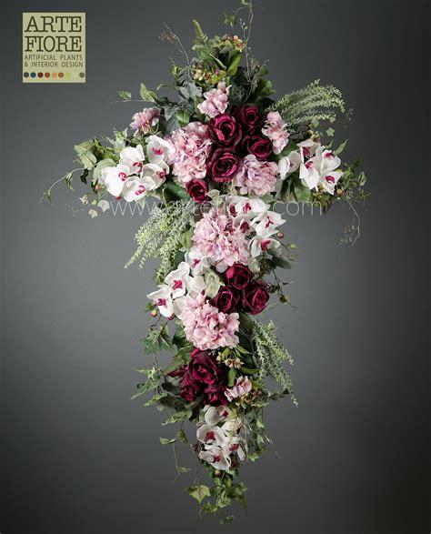 cuscino funebre cuscino funebre di fiori artificiali in tessuto per