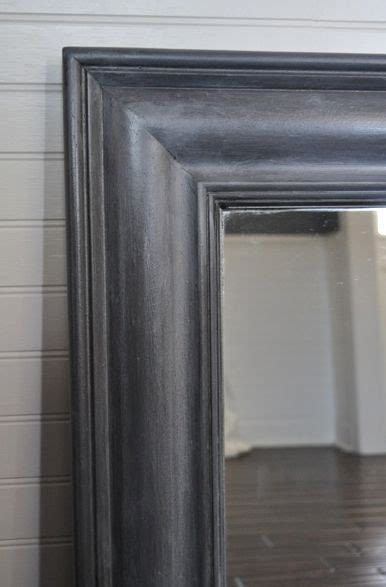 repaint  mirror frame  zinc shabby finish tutorial