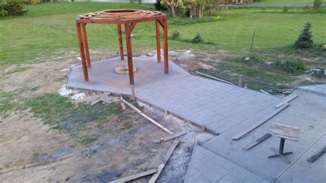 hexagon fire pit swing how to build a hexagonal swing with sunken fire pit diy