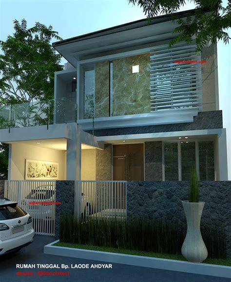carport pada gambar rumah minimalis modern 2 lantai denah rumah minimalis model rumah 2 lantai