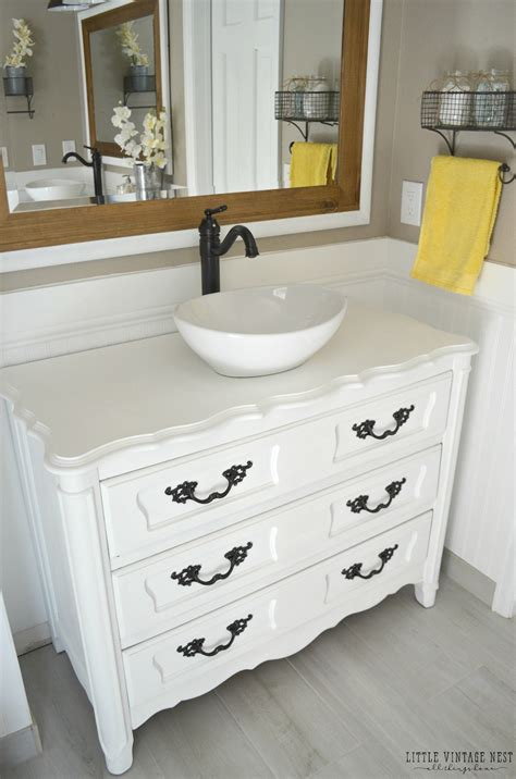 dressers as bathroom vanities old dresser turned bathroom vanity tutorial