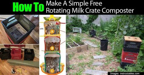 simple  rotating milk crate composter