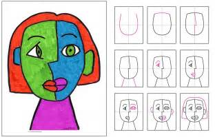 Cubism Essay by Grade 3 Cubism Portraits And Craft