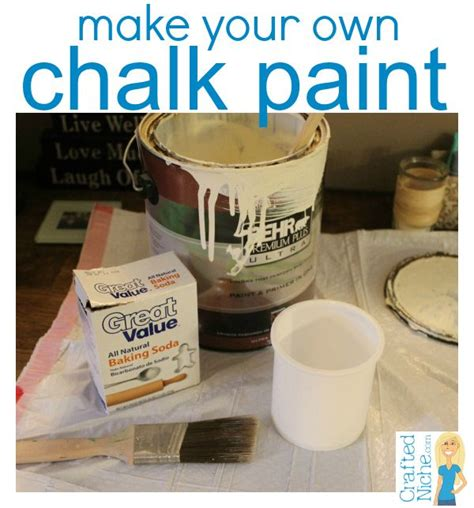 Things To Make Your Water by Make Your Own Chalk Paint With Paint And Baking Soda