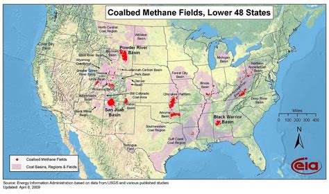 map us fields coalbed methane in the united states