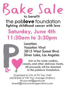 11 best photos of bake sale donation request flyer
