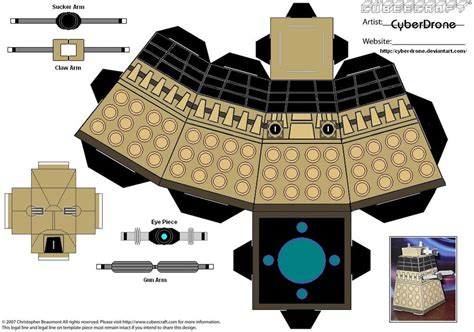Dalek Papercraft - cubee dalek doctor who by cyberdrone on deviantart