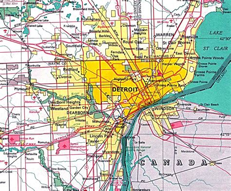 maps detroit detroit map map detroit michigan usa