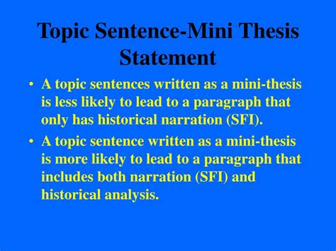 thesis topic ppt thesis statements topic sentences and analysis