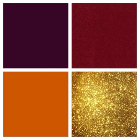 colors that look with gold eggplant cranberry burnt orange and gold color scheme