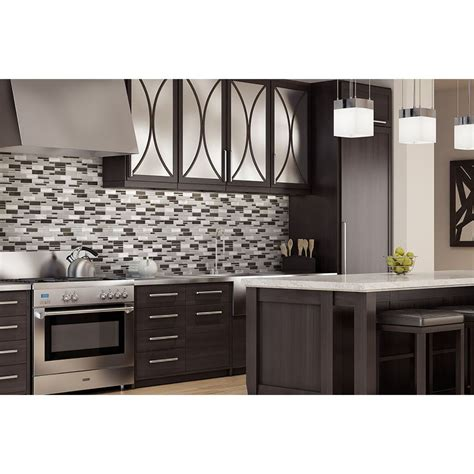 aluminum backsplash kitchen aluminum glass tile backsplash carbon blend kitchen