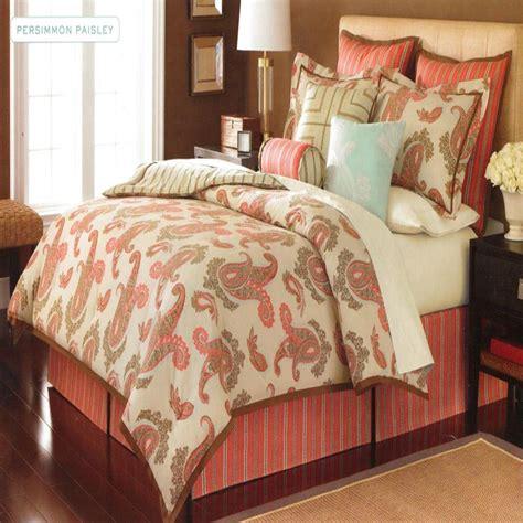 paisley comforter set queen martha stewart persimmon paisley queen 6 piece comforter
