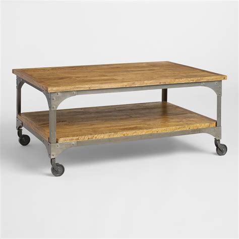 World Market Coffee Table Wood And Metal Aiden Coffee Table World Market