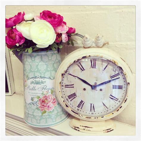 beautiful boudoir table clock cream shabby chic