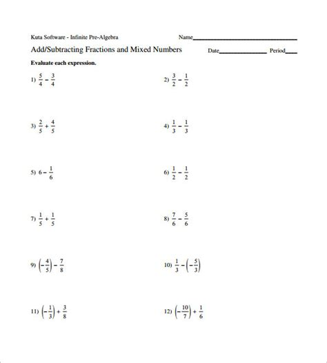 adding and subtracting fractions worksheet 15 adding and subtracting fractions worksheets free pdf