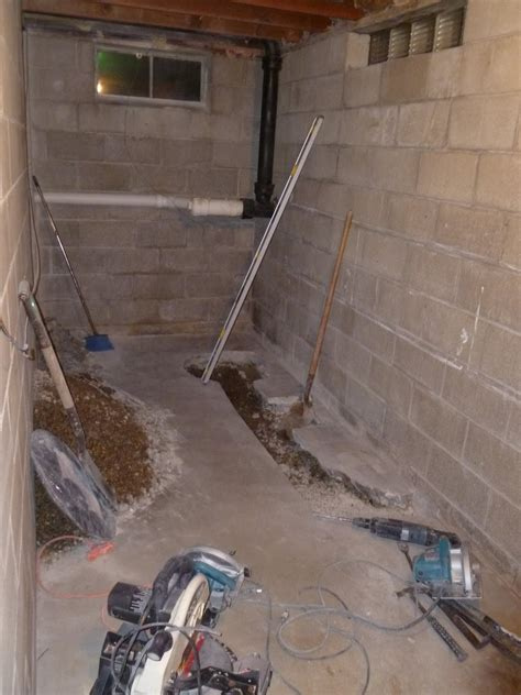 basement bathrooms with pumps basement bathroom rough plumbing new basement and tile