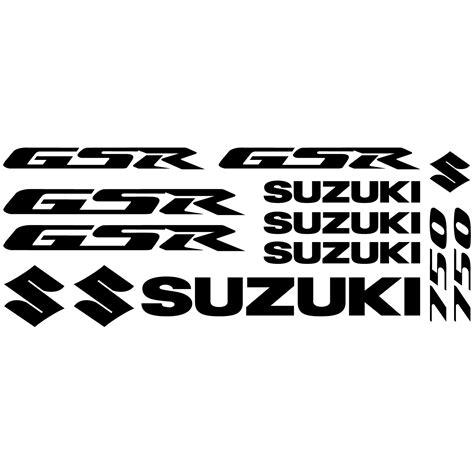 Suzuki Aufkleber Set Motorrad by Wandtattoos Folies Suzuki Gsr 750 Aufkleber Set