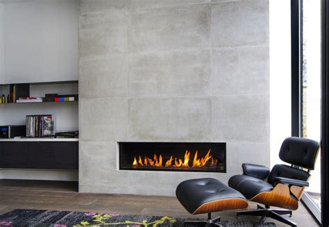 horizontal fireplace home decor