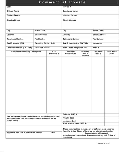 download professional invoice templates for free